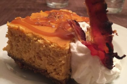 Pumpkin Smoked Salt Cheesecake